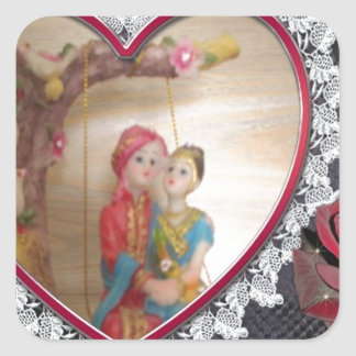 Happy Lovers day Square Sticker