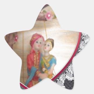 Happy Lovers day Star Sticker