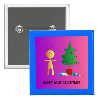 """""""Happy"""" Loves Christmas >  Xmas Buttons"""