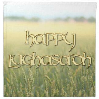Happy Lughnasadh Dinner Napkin (Cloth)