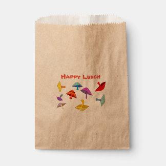 happy lunch mushrooms favor bag