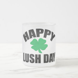 Happy Lush Day Frosted Glass Coffee Mug