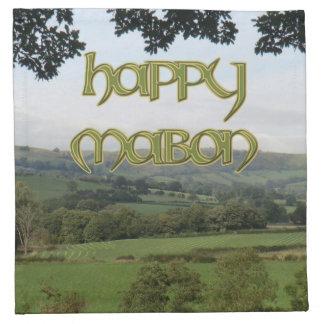 Happy Mabon Cocktail Napkins (Cloth)