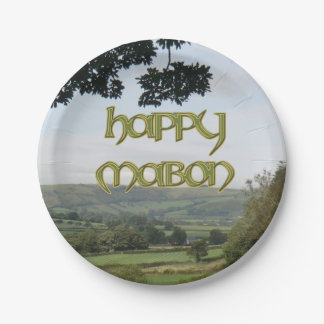 Happy Mabon Paper Party Plate