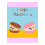 Happy Macaroons Postcard