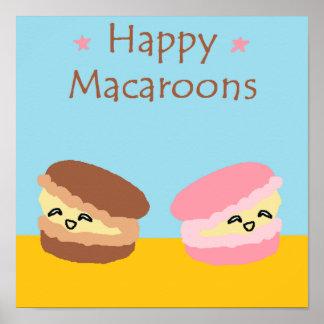 Happy Macaroons Poster