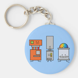 Happy Machine Robots Keychain