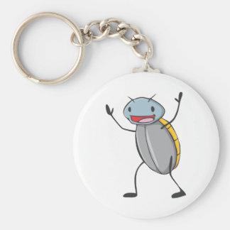 Happy Madagascar Hissing Cockroach Cartoon Keychain