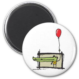 Happy 2 Inch Round Magnet