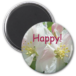 Happy! magnets Spring Apple Blossom Flowers