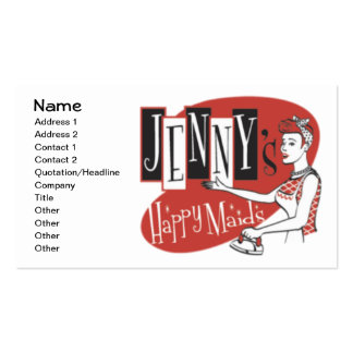 Happy Maids Business Card Template