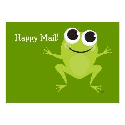"""Happy Mail"" Cute frog card - Fun Gift Ideas! Business Cards by"