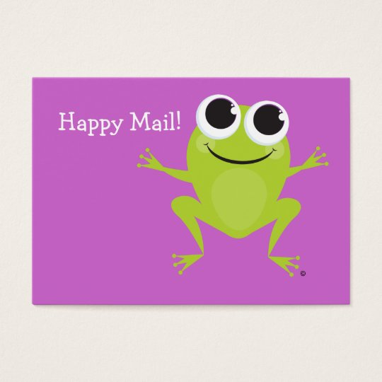 """Happy Mail"" Cute frog card - great gifts for kids"