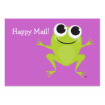 """Happy Mail"" Cute frog card - great gifts for kids Large Business Cards (Pack Of 100)"