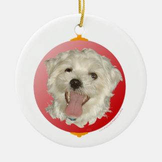 Happy Maltese Christmas Ornament