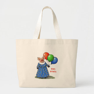 Happy Mama Pig With Balloons: Color Pencil Tote Bag