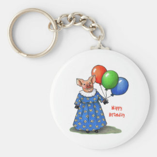 Happy Mama Pig With Balloons Color Pencil Keychains