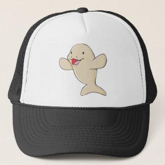 Happy Manatee Cartoon Trucker Hat