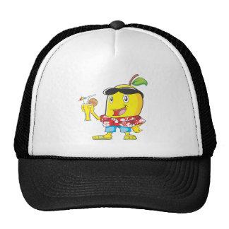 Happy Mango Fruit in Beach Attire Trucker Hats