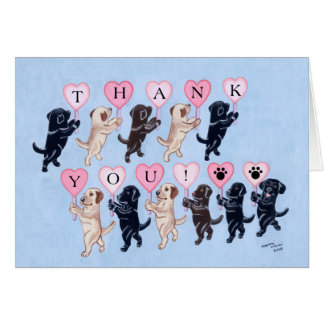 Happy Marching Labradors Thank You Card