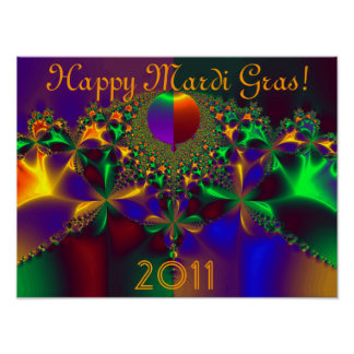 Happy Mardi Gras!  2011 Poster