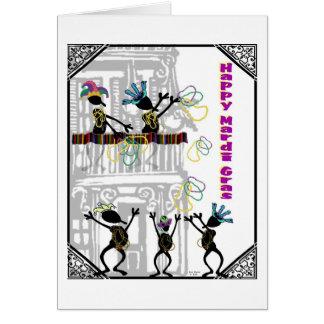 Happy Mardi Gras--Balcony Scene Card