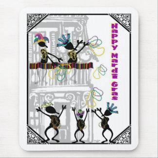 Happy Mardi Gras--Balcony Scene Mouse Pad