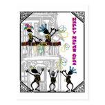 Happy Mardi Gras--Balcony Scene Postcard
