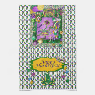 Happy Mardi Gras Kitchen Towel