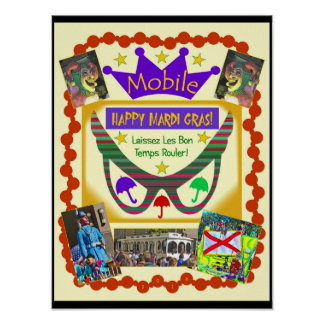 Happy Mardi Gras Mobile Poster