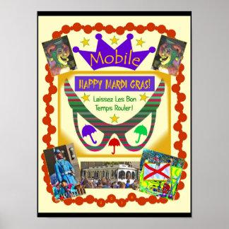 Happy Mardi Gras Mobile Poster