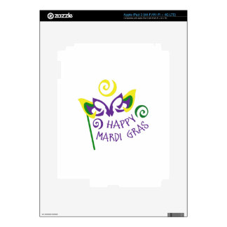 HAPPY MARDI GRAS iPad 3 SKINS