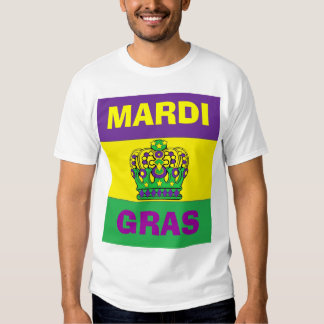HAPPY MARDI GRAS TEE SHIRT