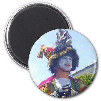 Happy Mardis Gras clown magnet