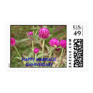 HAPPY MARRIAGE ANNIVERSARY POSTAGE STAMP