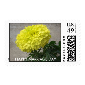 HAPPY MARRIAGE DAY POSTAGE STAMP