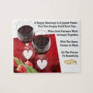 Happy Marriage Inspirational Jigsaw Puzzle