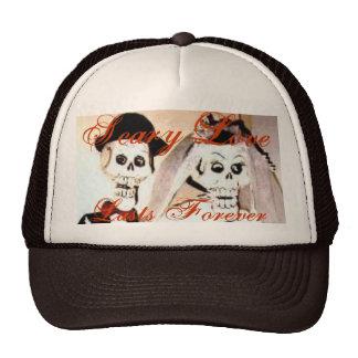 Happy Married Skeleton Couple Baseball Hat Custom