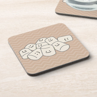 Happy Marshmallow Buddies Beverage Coaster