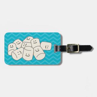 Happy Marshmallow Buddies Luggage Tag