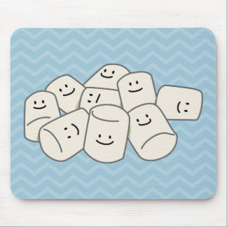 Happy Marshmallow buddies sticky puff sweet friend Mouse Pad