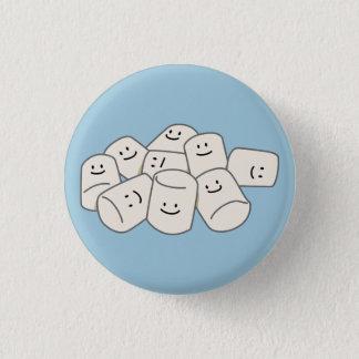Happy Marshmallow buddies sticky puff sweet friend Pinback Button