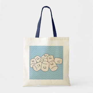 Happy Marshmallow buddies sticky puff sweet friend Tote Bag