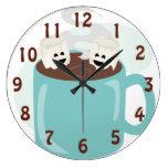 Happy Marshmallows in Cocoa Clocks