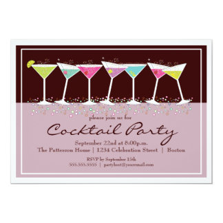 Happy Martinis Cocktail Party Invitation