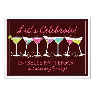 Happy Martinis Milestone Birthday Party Invitation