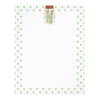 Happy mason jar and straws letterhead