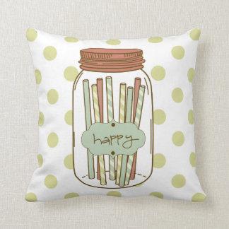 Happy mason jars pillow