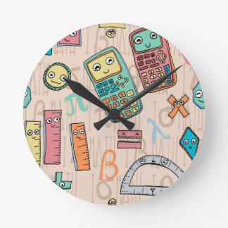 Happy Math Round Clocks
