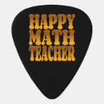 Happy Math Teacher in Gold Guitar Pick